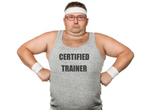 Out of shape personal trainer
