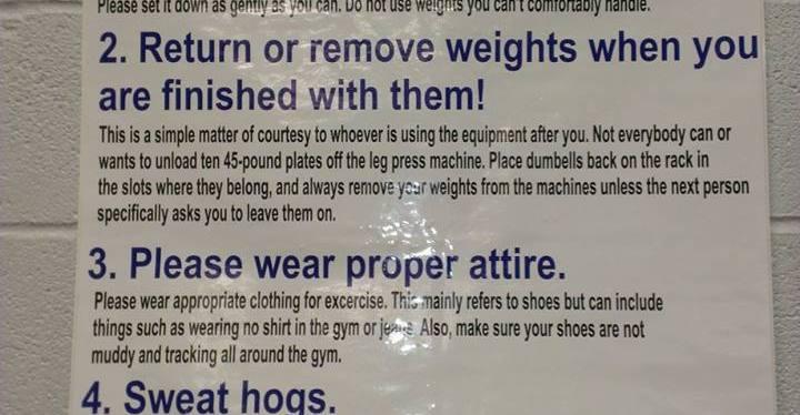 5+ Gym EtiquetteRules